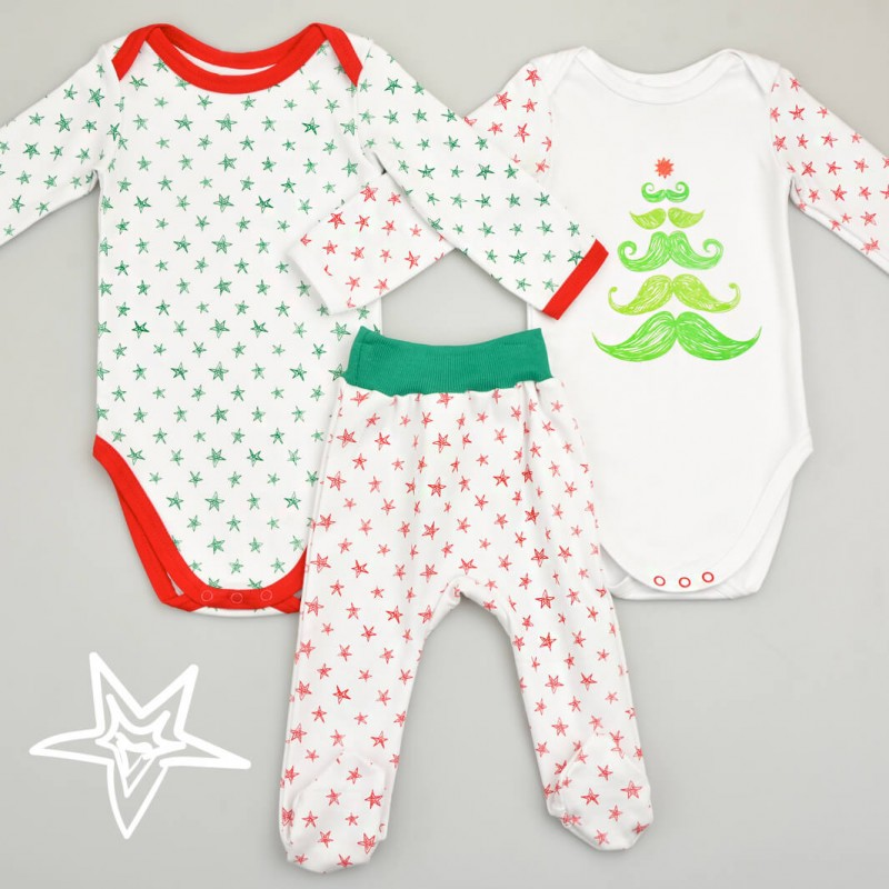 Christmas Collection - набір: 2 бодіки та повзунки