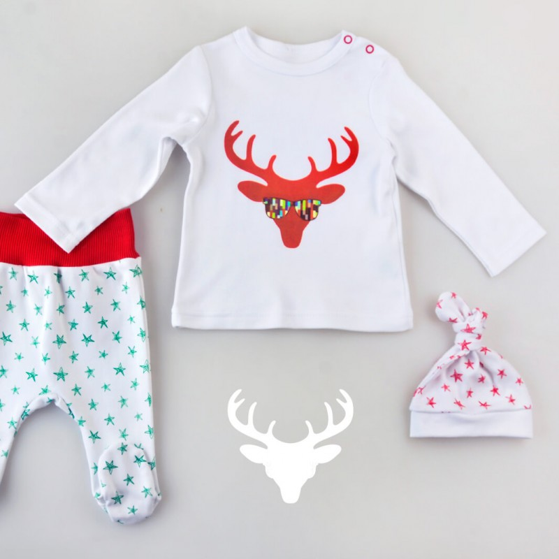 Christmas Collection - набір: реглан, повзунки, шапка